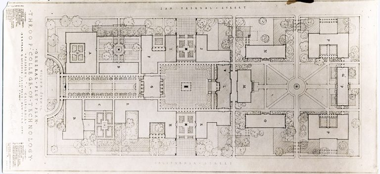 An early campus plan by Bertram Goodhue